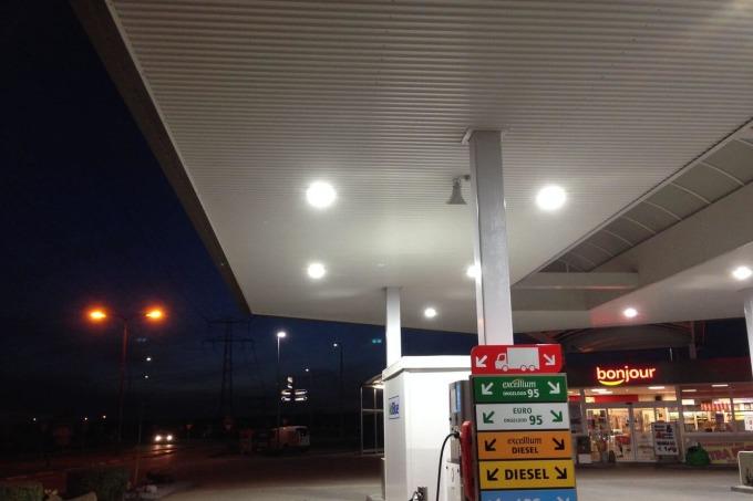 Ledverlichting voor Tankstation Ben Nobel